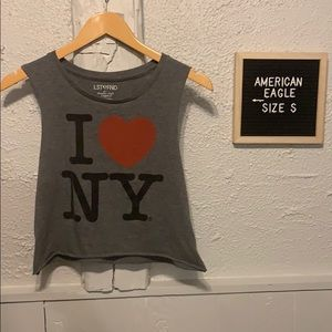 """I Love NY"" Crop Top Size S"